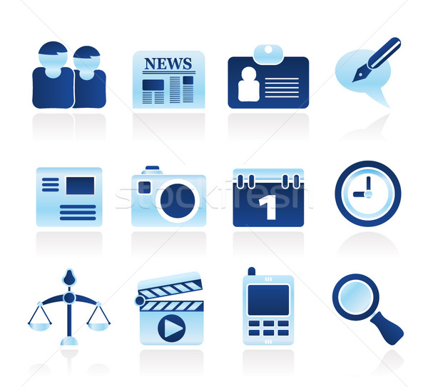 web site, computer and business icons Stock photo © stoyanh