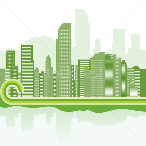 green city background - Jakarta   Stock photo © stoyanh