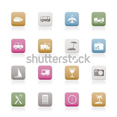 бизнеса промышленности иконки вектора здании Сток-фото © stoyanh