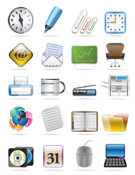 Kantoor tools vector business internet Stockfoto © stoyanh