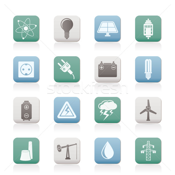 Power and electricity industry icons  Stock photo © stoyanh