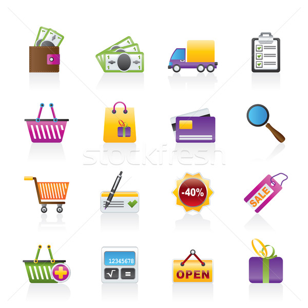 Stock photo: Shopping and website icons