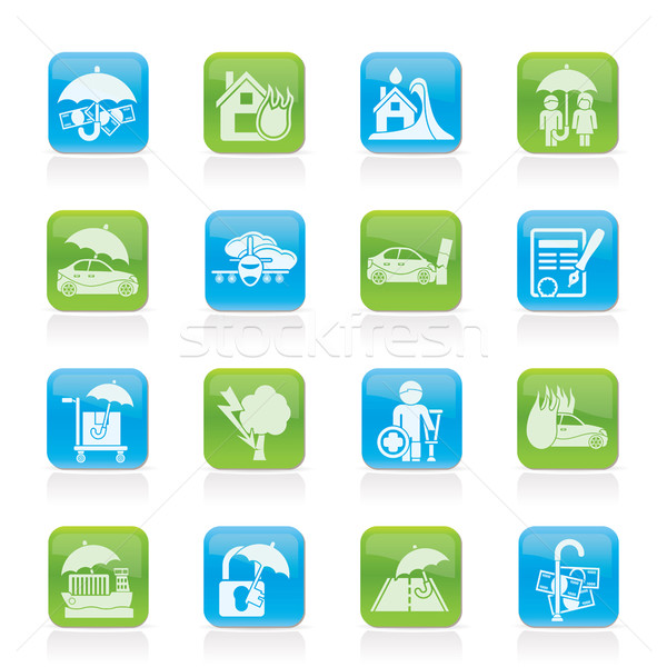 Insurance and risk icons  Stock photo © stoyanh