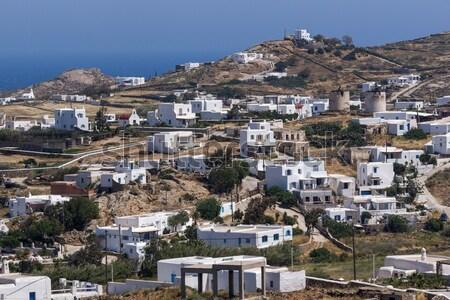 Town of Fira, Santorini, Thira Stock photo © stoyanh