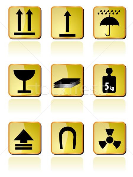 Stockfoto: Scheepvaart · vak · icon · borden · iconen · vector