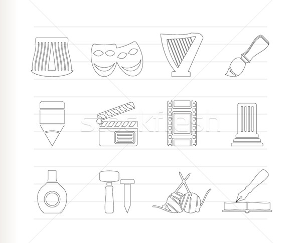 Foto stock: Diferente · arte · ícones · vetor · abstrato