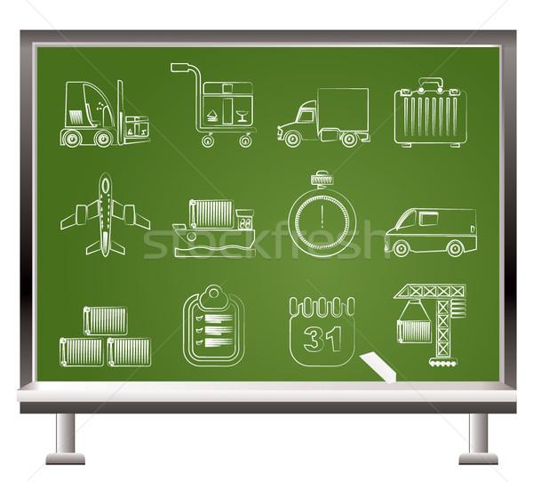 Zdjęcia stock: Logistyka · wysyłki · transport · ikona · wektora