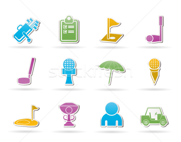 golf and sport icons  Stock photo © stoyanh