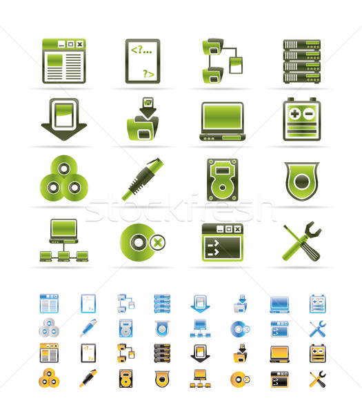 Server Side Computer icons - Vector Icon Set  - 3 colors included Stock photo © stoyanh