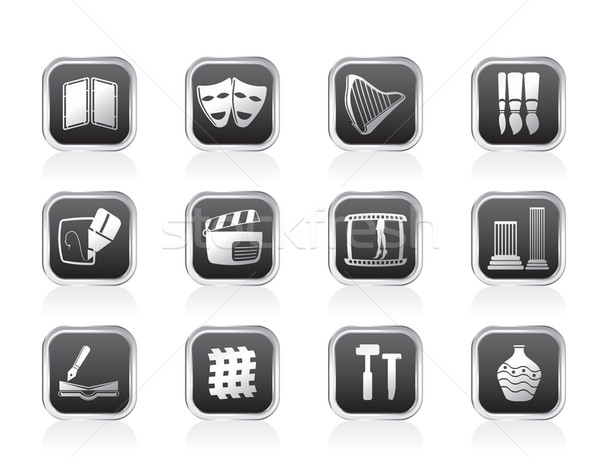 different kind of Arts Icons Stock photo © stoyanh