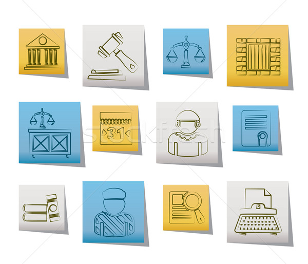 Justice and Judicial System icons  Stock photo © stoyanh
