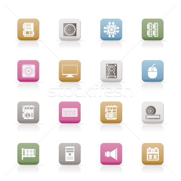 Stockfoto: Computer · prestaties · uitrusting · iconen · vector