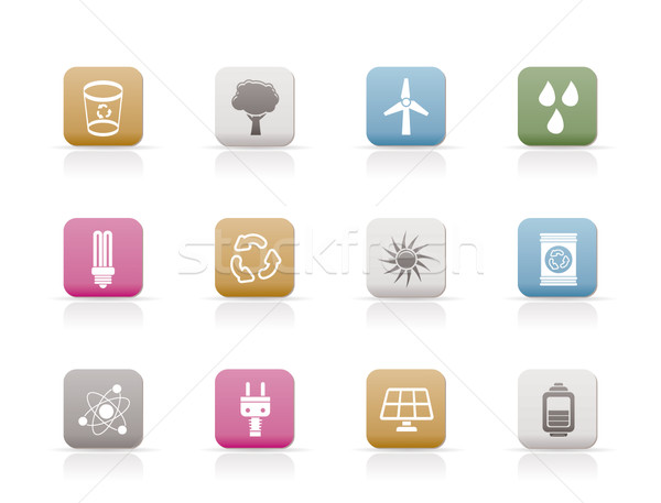 Ecology, energy and nature icons  Stock photo © stoyanh