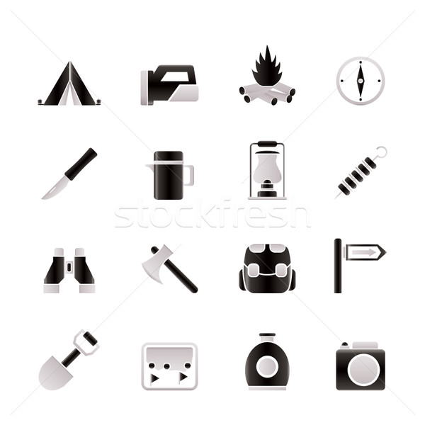 Stock photo: tourism and hiking icons