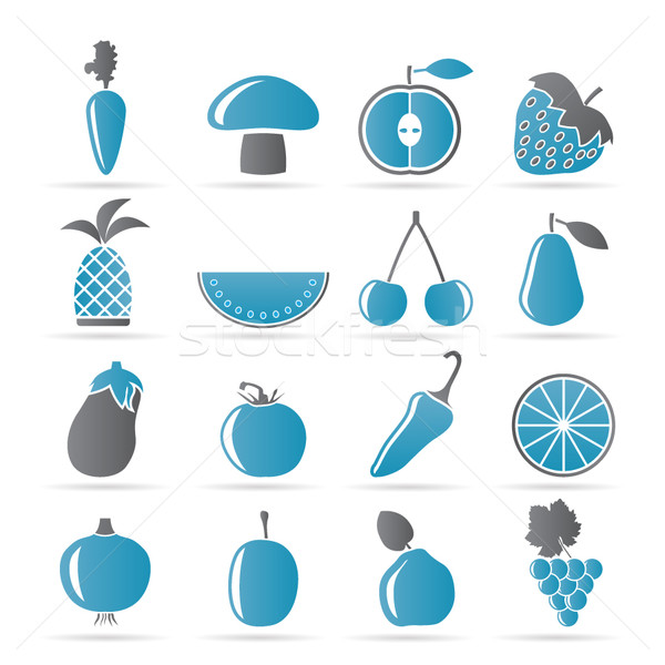 Different kinds of fruits and Vegetable icons  Stock photo © stoyanh