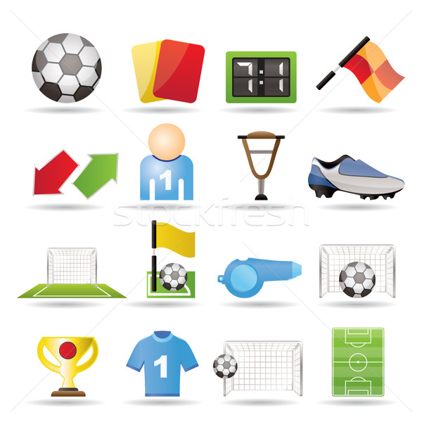 football, soccer and sport icons Stock photo © stoyanh