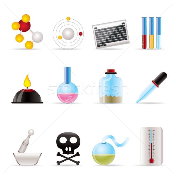 ストックフォト: 化学 · 業界 · アイコン · ベクトル