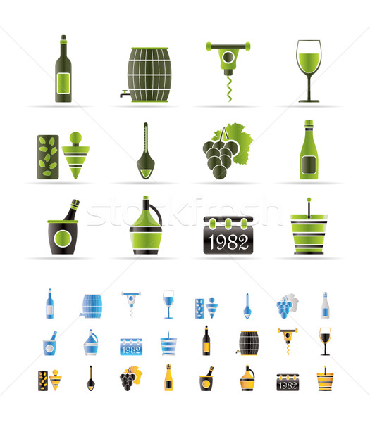 Wine Icons  Stock photo © stoyanh