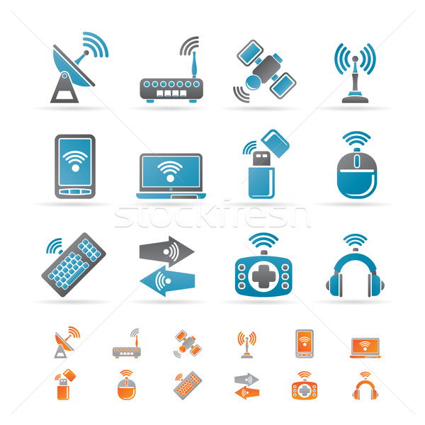 Technologie iconen vector business Stockfoto © stoyanh