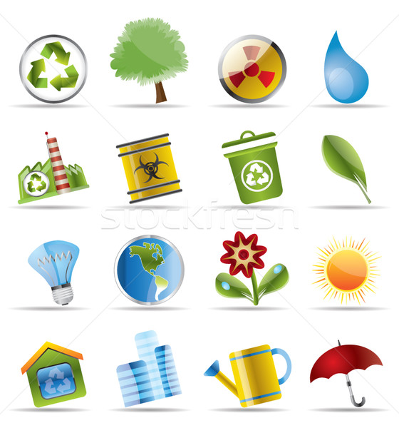 Realistic Icon - Ecology Stock photo © stoyanh