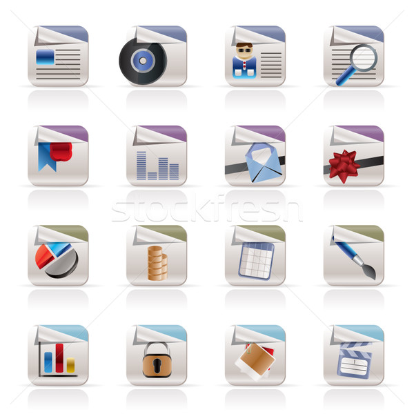 Computer Icons - File Formats  Stock photo © stoyanh