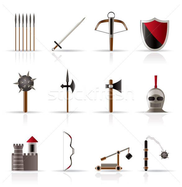 medieval arms and objects icons  Stock photo © stoyanh