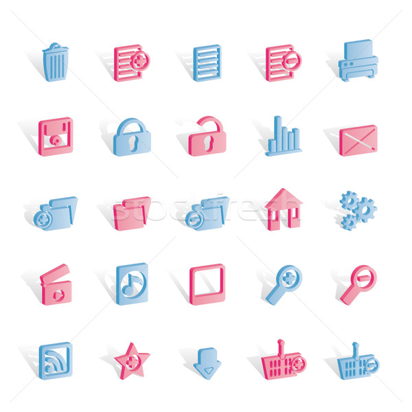 25 Detailed Internet Icons Stock photo © stoyanh