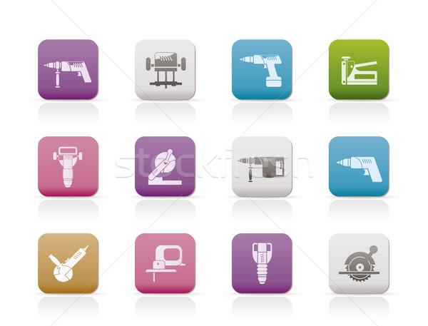 Zdjęcia stock: Budynku · budowy · narzędzia · ikona · wektora