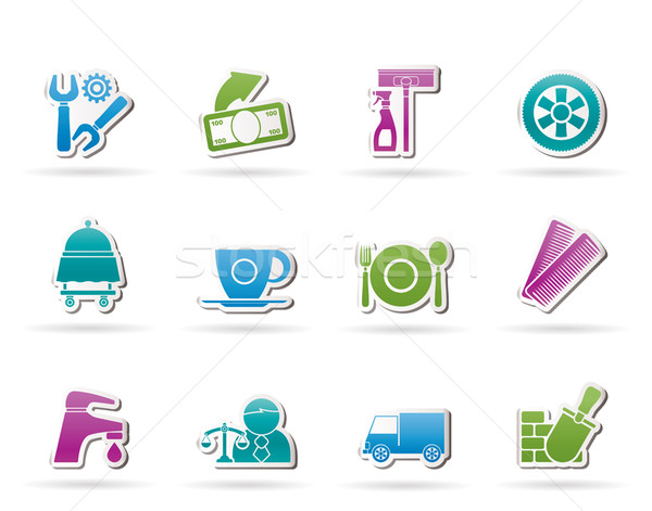Services and business icons  Stock photo © stoyanh
