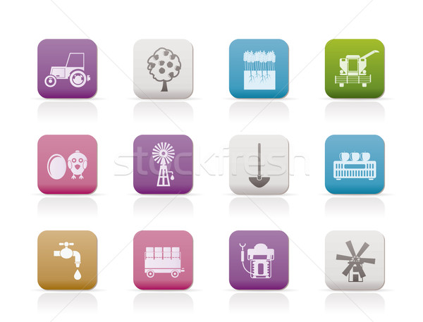 Industrie tools iconen vector Stockfoto © stoyanh