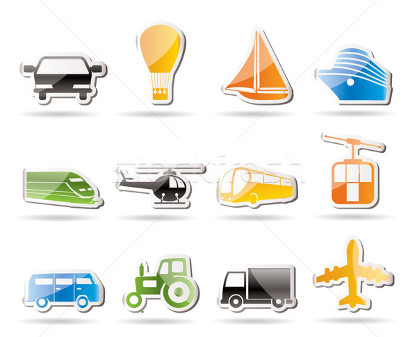 Simple Transportation and travel icons  Stock photo © stoyanh