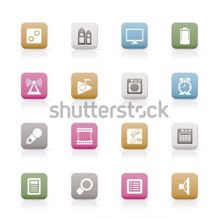 Affaires bureau outils icônes vecteur Photo stock © stoyanh