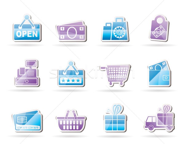 shopping and retail icons  Stock photo © stoyanh
