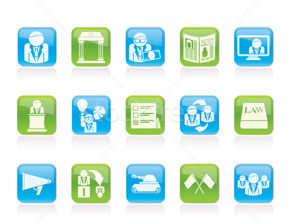 Politics, election and political party icons Stock photo © stoyanh