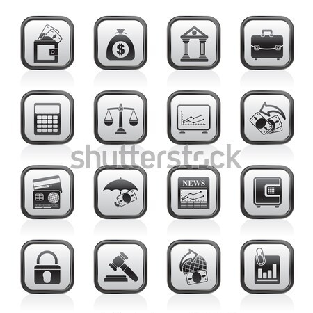 Stock photo: Law, Police and Crime icons