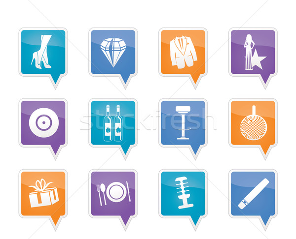 Luxury party and reception icons  Stock photo © stoyanh