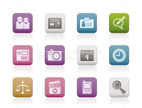 Zdjęcia stock: Komputera · działalności · ikona · wektora