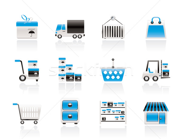 Storage, transportation, cargo and shipping icons  Stock photo © stoyanh