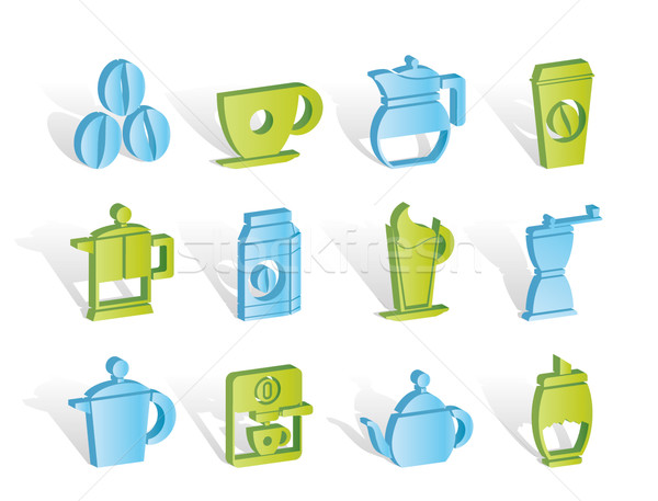 Stock photo: coffee industry signs and icons