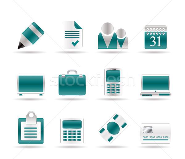 Działalności biuro ikona wektora papieru Zdjęcia stock © stoyanh