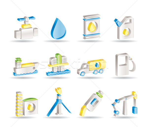 oil and petrol industry objects icons Stock photo © stoyanh