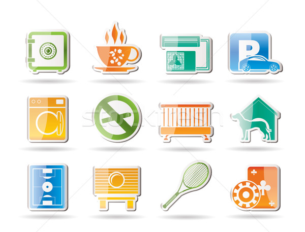 hotel and motel amenity icons Stock photo © stoyanh