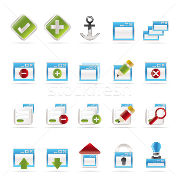 Application, Programming, Server and computer icons  Stock photo © stoyanh