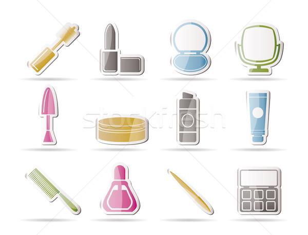 Zdjęcia stock: Kosmetycznych · uzupełnić · ikona · wektora · działalności