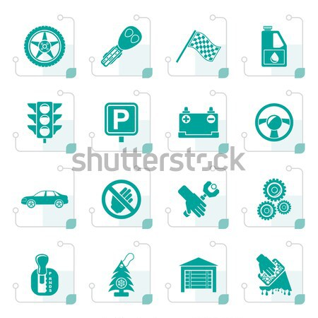 Сток-фото: автомобилей · транспорт · иконки · вектора · безопасности