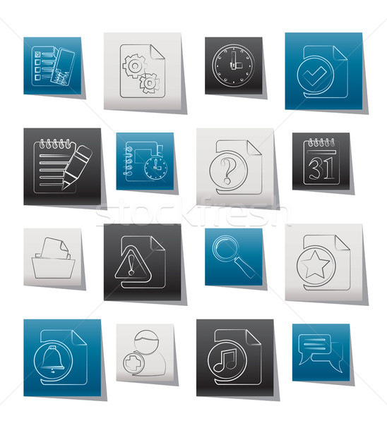 Stock photo: Organizer, communication and connection icons