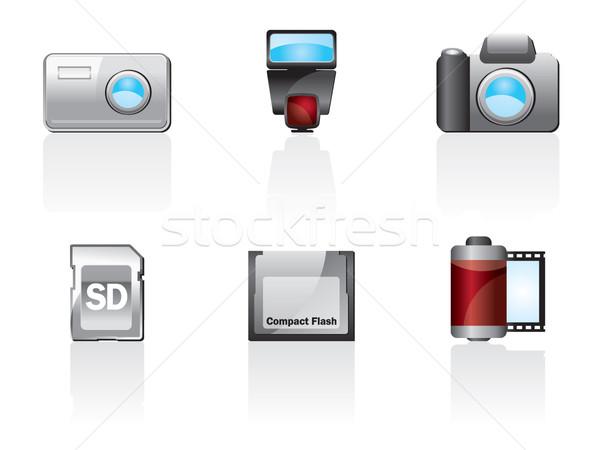 Photo Icon Set One. Easy To Edit Vector Image Stock photo © stoyanh