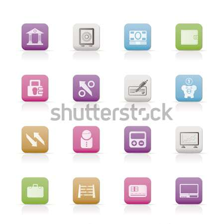 Mediów informacji ikona wektora działalności Zdjęcia stock © stoyanh