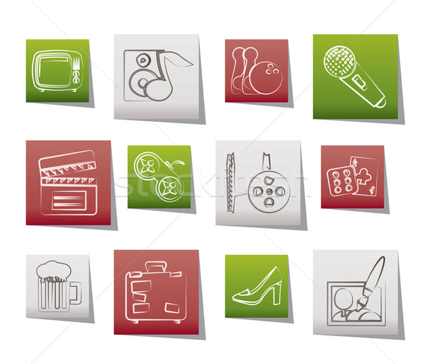 Leisure activity and objects icons Stock photo © stoyanh