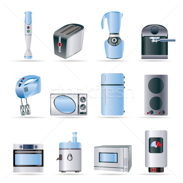Kitchen and home equipment icons  Stock photo © stoyanh